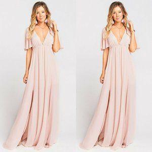 Show Me Your MuMu Faye Maxi Dress Dusty blush